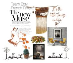 """Team Etsty French Riviera Autumnal home style"" by mouna-marini on Polyvore featuring interior, interiors, interior design, maison, home decor, interior decorating, Crate and Barrel et Improvements"