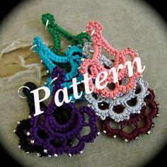Tatted Lace Bracelet Quadra in Grays by TotusMel on Etsy