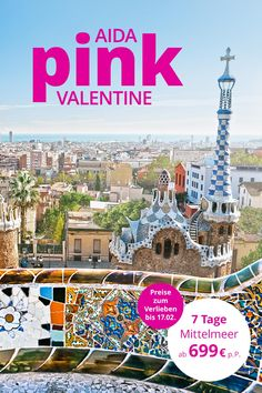 💟 AIDA Pink Valentine 💟 Surprise your loved one with the next dream vacation to the Mediterranean 💘👩❤💋👨 Roses Valentine, Valentines Surprise, Diy Décoration, Pink, Dream Vacations, Garden Landscaping, Falling In Love, Taj Mahal, Wedding Decorations