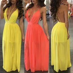 Seductive Low Cut Pleated Maxi Slip Dress