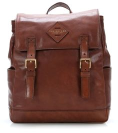 wardow.com - The Bridge, Patch Luxe 13'' Laptop-Rucksack Leder braun 35 cm
