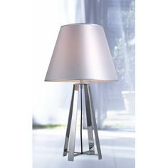 """Wade Logan Patterson Stainless Steel 24"""" Table Lamp"""