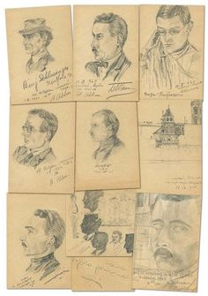Enver Paşa'nın kara kalem çizimleri