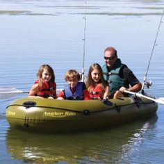 Angler Bay 4 Person Inflatable Boat - made with lightweight heavy-gauge vinyl