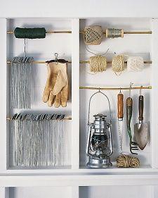 Organizing garden tools