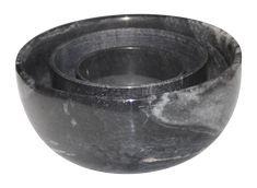 Black Marble Bowls - Set of 3 on Chairish.com
