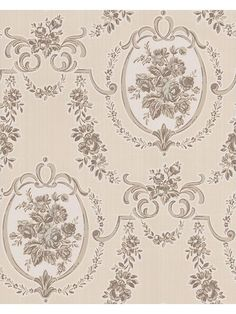 Beige rutherford wallpaper