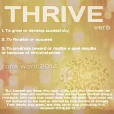 Thrive #myoneword -  Don't just live your life! Thrive!!! http://mimi3dd.le-vel.com/