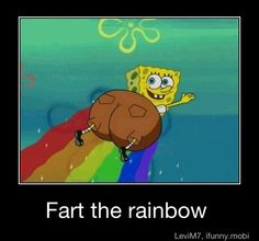 Spongebob can fart a rainbow while flying what kind of other secrets does he have?