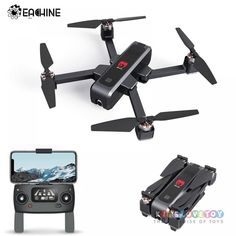 Eachine GPS WiFi FPV with Camera Optical Flow OLED Switchable Remote Brushless Foldable RC Drone Quadcopter RTFSpecification: Aircraft & Remote Controller Dimensions Unfolded: Weight (with Battery) about Color Black Diagonal Size Motor Brushless 2204 ESC Drone Gps, Drone Quadcopter, Camera Drone, Distance Focale, Wifi, Flight Speed, Foldable Drone, Engineering Plastics, Photography Equipment