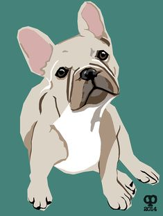 Dog Illustrations for Handmade Appliqué Cushions on Behance Simple Canvas Paintings, Animal Paintings, Pop Art, French Bulldog Drawing, Dog Quilts, Dog Illustration, Cartoon Dog, Dog Portraits, Dog Design