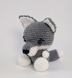 PATTERN: Crochet wolf pattern  amigurumi wolf by TheresasCrochetShop