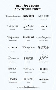 I& put together a list of my favorite, boho and adventure styled fonts tha. - - I& put together a list of my favorite, boho and adventure styled fonts that are fo& free. Whether it& a dreamy script or edgy block lettering… Adventure Fonts, Adventure Style, Adventure Tattoo, Block Lettering, Hand Lettering, Tatoo Lettering, Lettering Ideas, Block Letter Fonts, Hand Drawn Fonts