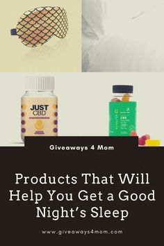 Products That Will Help You Get a Good Night�s Sleep #sleeping #momlife #sleep