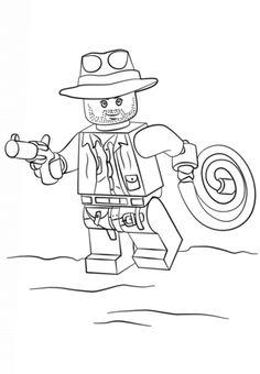 indiana jones and ghostrider coloring pages | Dibujos para imprimir y pintar para niños Lego Marvel ...