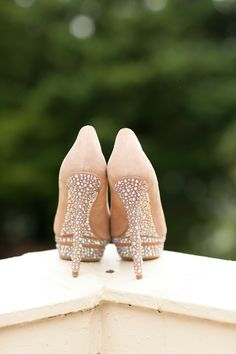 Wedding shoes - Loving the beaded details!