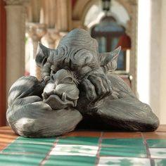 Personaggio DA GIARDINO DRAGO-LOVELY-FANTASY Drago famiglia Gartendeko appartamento statua