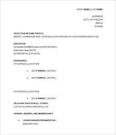 Checker 3 Resume Format Pinterest Sample Resume Resume And