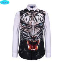 2016 молодежная мода стиль тенденция леопарда 3D печатается рубашки мальчики большой детей 13 - 18 лет с длинными рукавами свободного покроя рубашки подростков девочек S9(China (Mainland))