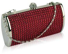 a64f1e34308b Stunning Red Diamante Studded Prom Evening Bridal Clutch Bag (16cm x 8cm)  with PreciousBags. London Bröllop