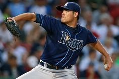 Rays starting pitcher Matt Moore pitched a complete-game two-hitter to lead Tampa Bay to a 3-0 victory over the Red Sox in the first game of their four-game series this week at Fenway Park.