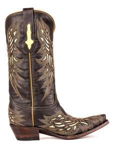Lucchese Women's Hillsboro Lazer Design Boot