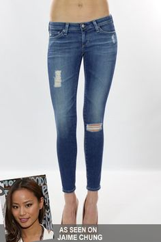 AG Jeans The Ankle Legging Jean in 18 Years Destroyed as seen on Jaime Chung