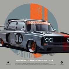Andrey tkachenko lada 06 avtoexport team Car Illustration, Illustrations, Foto Cars, Honda Scrambler, Monster Car, Street Racing Cars, License Plate Art, Garage Art, Super Sport Cars