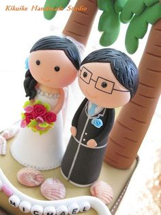Wedding Cake Topper-love bride and groom | by charles fukuyama