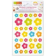 Stickers comestibles fleurs