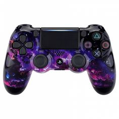 eXtremeRate Surreal Lava Patterned Front Housing Shell Case, Glossy Faceplate Cover Replacement Kit for Playstation 4 Slim Pro Controller Cool Ps4 Controllers, Ps4 Controller Custom, Game Controller, Control Nintendo, Control Ps4, Buy Ps4, Mundo Dos Games, Game Wallpaper Iphone, Ps4 Skins