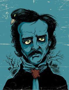 Edgar Allen Poe artwork copyright Ghoulish Gary 2012.