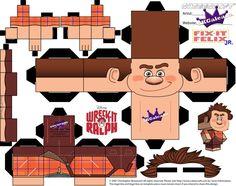 Disney Ralph Cubeecraft Wreck it Ralph Template by SKGaleana on deviantART