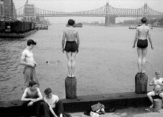Brooklyn Bridge Redux by Berenice Abbott- Series Changing New-York, Berenice Abbott, Diane Arbus, Man Ray, Ohio, Weegee, Famous Photographers, City Architecture, Classic Films, The Good Old Days