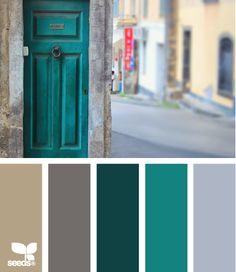 I love colored doors.