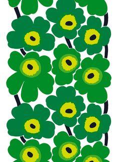 Unikko Green es una adaptación de la icónica flor roja diseñada por Maija Isola en 1965