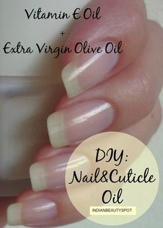 Olive oil is the best when it comes to nail care. It penetrates deep into the skin and nails and thus helps nourish your nails. Plus, it contains vitamin E which improves circulation blood circulation, helps repair damaged nails and promotes nail strength and growth. Before going to bed, apply warm olive oil to your nails and cuticles and massage gently for 5 minutes. Wear cotton gloves overnight. Do this once daily. #nail-care #beauty  http://www.beauty-and-health-tips.com/