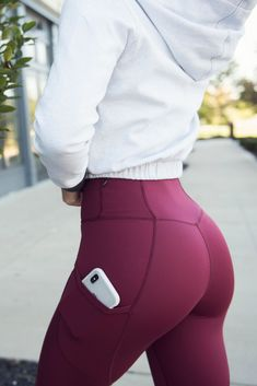 """The Crystal """"Driven For More"""" Legging: - Port Wine Red - Sports & Healts Fitness , Yoga , Bodybuilding Mode Des Leggings, Women's Leggings, Printed Leggings, Cheap Leggings, White Leggings, Fitness Outfits, Fitness Fashion, Gym Fashion, Fashion Outfits"""