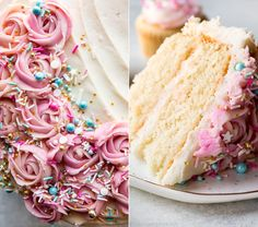 Ever curious about this beautiful buttercream technique? It's so easy! Learn how to pipe a two-toned frosting rose with this recipe and video tutorial. Mini Cupcakes, Cupcake Cakes, Icing Frosting, Cake Icing, Buttercream Techniques, Cookie Decorating, Decorating Cakes, Decorating Ideas, Sallys Baking Addiction
