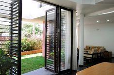 Gallery of B House / Cadence - 11 Balcony door design Home Grill Design, Window Grill Design Modern, Balcony Grill Design, Grill Door Design, Balcony Railing Design, Door Gate Design, Main Door Design, House Design, Door Grill