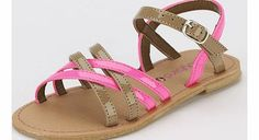 Ladybird Heather Strappy Toddler Girls Sandals These lovely girls sandals from Ladybird hone in perfectly on the popular neon trend. Shell adore the bright colour and fashionable strappy style. The neon pink is contrasted with a trendy tan colour  http://www.comparestoreprices.co.uk/womens-shoes/ladybird-heather-strappy-toddler-girls-sandals.asp