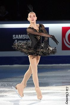 Adelina Sotnikova  -Black Figure Skating / Ice Skating dress inspiration for Sk8 Gr8 Designs.