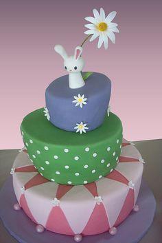 Adorable Easter Bunny cake.