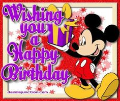 mickey mouse birthday wishes - Google Search | Birthday ...