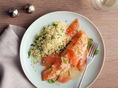 Roasted Salmon with Shallot Grapefruit Sauce : Recipes : Cooking Channel Recipe | Ellie Krieger | Cooking Channel