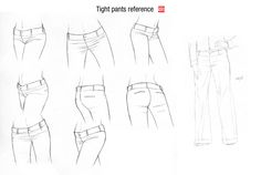 pants ✤ || CHARACTER DESIGN REFERENCES | キャラクターデザイン • Find more at https://www.facebook.com/CharacterDesignReferences if you're looking for: #lineart #art #character #design #illustration #animation #drawing #archive #reference #traditional #sketch #pose #settei #gestures #how #to #tutorial #comics #conceptart #modelsheet #cartoon #wrinkles #folding #clothing #costumes #ruffles #dress #clothes #fabric #folds #draping || ✤