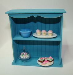 Blue Cabinet: by The Fabulous Farmhouse   1/12 scale Collectible