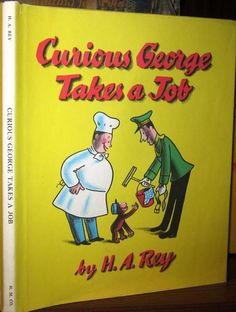 Curious George Takes a Job (1947) Dust jacket