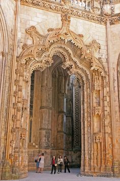 Capelas Imperfeitas portail manuélin Batalha Portugal