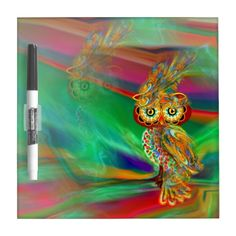 Tropical Fashion Queen Owl Dry Erase Board https://www.zazzle.com/z/34n0g